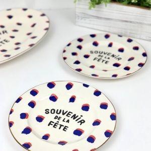 ANTHROPOLOGIE Maisonette Dessert Plates Set of 4